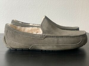 UGG MENS ASCOT NEW BURNT OLIVE SLIPPER AUTHENTIC . #Winter Cold Loafer