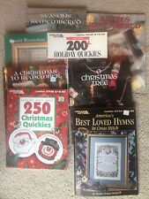 Cross Stitch Books - Collection of 8 - Christmas, Angels, Holiday, and Nostalgia