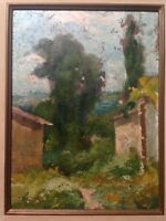 Fine Oil 19th century French Impressionist painting Landscape Jacques MARTIN