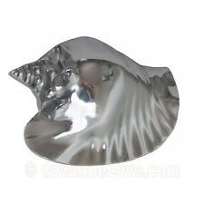 Large Metal Conch Shell - Nautical Theme - Bathroom Decor - Silver Shell