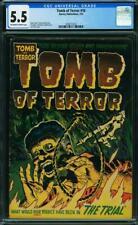 Tomb of Terror 10 CGC 5.5 ELIAS NOOSE & SKELETON ☠ 1953 Nostrand & Powell Harvey