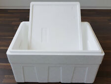 Styroporbox Isolierbox Kühlbox Thermobox 600x450x370 mm, ca. 50l mit Karton
