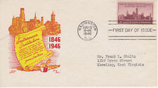 POSTAL HISTORY FIRST DAY/EVENT COVER 1946 SMITHSONIAN INSTITUTION KEN BOLL CACHE