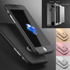 Hybrid 360° Shockproof Case Tempered Glass Cover For Apple iPhone SE 6 7 8 PLUS