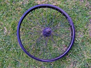 Cult 20 inch 36 Spoke BMX Bicycle  cassette Wheel 14mm Axle