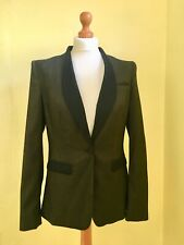 NEW with tags NEXT olive green black tailored suit blazer jacket size 10 RRP £45