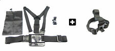 GoPro 4,3+,3,2 - Chest strap with (J-hook buckle & Free bag) & Head mount strap