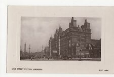 Liverpoll, Lime Street Station Real Photo Postcard, A800
