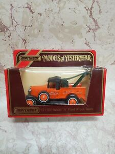 """1987 MATCHBOX """"MOY"""" Y7-4 issue 5 1930 MODEL """"A"""" FORD WRECK TRUCK  NEW"""