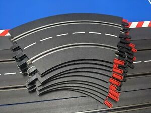 Carrera 1/60 Curve Lot of 8 -1/32-1/24 Track Slot Cars w/clips-FREE Shipping