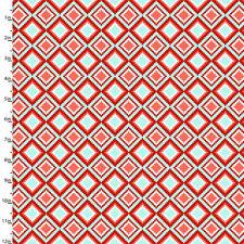 Fabric Aztec Tribal Geo Diamond on Cotton 1 Yard S