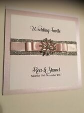 Personalised Winter Wedding Glitter Snowflake Pocketfold Wedding Invitation