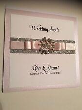 Inverno PERSONALIZZATO WEDDING GLITTER Snowflake pocketfold Wedding Invitation