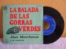 """ALAN MOORHOUSE Y SU ORQUESTA -LA BALADA DE LAS GORRAS VERDES- MEX. 7"""" EP PS JAZZ"""