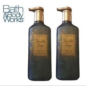 "Bath & Body Works ""Vanilla Sage"" White Barn Lux Hand Soap x2 SALE DISCONTINUED"