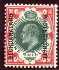 Bechuanaland 1912 KEVII 1s green & scarlet MLH. SG 70. Sc 79