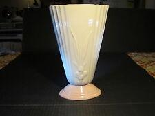 """Large Elegant Lenox Porcelain 10"""" White With Floral Top & Pink Base Vase"""