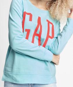 NibGap Women's Logo Crewneck Pullover Sweatshirt Blue Size Med