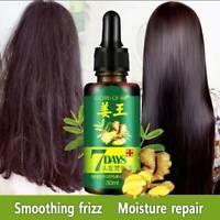 1Pc 30ML 7 Days Ginger Germinal Serum Hair Essence Oil Loss Treatment Growth