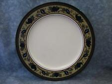 "Arabella by Mikasa 8-3/8"" Salad Plate Intaglio Blue Green And Brown Leaves L156"