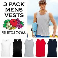 3 Pack Mens Athletic Vests Brand New All Sizes and Colours Sleeveless Tank Top