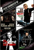NEW DVD - BULLITT + PAPILLON + THE GETAWAY + CINCINNATI KID  - STEVE McQUEEN