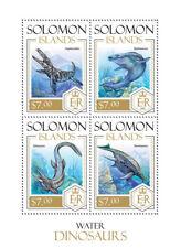 SOLOMON ISLANDS  2013 water  dinosaurs