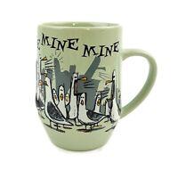 Disney Parks Pixar Finding Nemo Mine Mine Mine Seagulls Green Coffee Cup Mug
