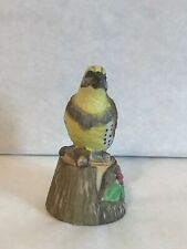 Jasco Feathered Friend Porcelain Bisque Hand Painted Bell