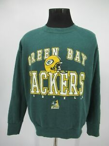 P6527 VTG Green Bay Packers Football Team Pullover Sweatshirt Made In USA Size L