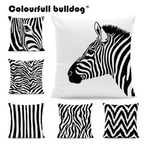 White and Black Zebra Throw Pillow Cases Geometry Striped Cushion Covers Home