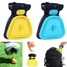 Foldable Dog Pet Pooper Scooper Poop Scoop Clean Pick Up Excreta Cleaner W/ Bag