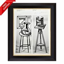 Roy Lichtenstein - Pitcher and picture, Original Hand Signed Print with COA