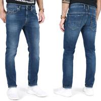 Diesel Herren Slim Fit Stretch Jeans Hose Mittel Blau | Thommer 0870F