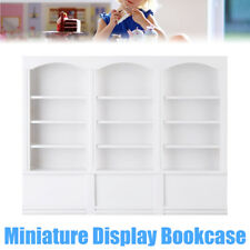Wooden Miniature Display Bookcase Bookshelf Cabinet For 1/12 Dollhouse Furniture