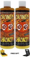 Orange Chronic Pipe Hookah Cleaner x2 16 oz Bottles FREE Gift