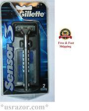 *Gillette Sensor3 Razor Metal Handle 2 Cartridges Fit Sensor 3 Excel Shaver