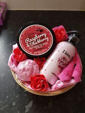 I Love Raspberry pink gift basket, Birthday, Leaving of teacher gift