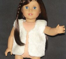 White Faux Fur Sparkle Vest 18 in Doll Clothes Fits American Girl