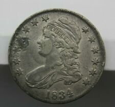 1834 CAPPED BUST HALF DOLLAR LETTERED EDGE VERY FINE