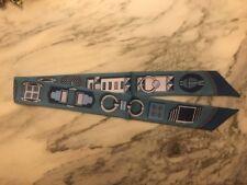 Tuch Bandeau Für Taschenhenkel Taschenanhänger Ketten Gürtel Blau Neu