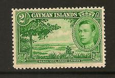 CAYMAN ISLANDS :1938 2/- yellow-green  SG 124 mint