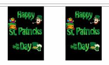 HAPPY ST PATRICKS DAY 18m metre BUNTING 60 feet 30 flags flag PATRICK IRISH EIRE