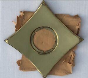 Vintage Mid-Century Atomic Starburst Brass Escutcheon door knob Plate