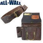 Ox Pro 12-Pocket Drywall Tool Pouch and 3' Belt - Heavy Duty Top Grain Leather