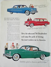 1954 Studebaker Red Station Wagon Blue Sedan Green Coupe Car Color  Ad