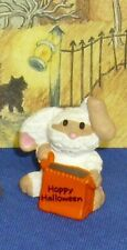 Hallmark Halloween Merry Miniatures Bunny Rabbit as Mummy 1991 Used w/ Gold Seal