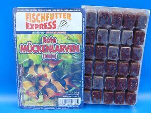 Frostfutter Rote Mückenlarven 40x 100g Blister