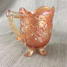 VINTAGE ART DECO verre Pot à Lait Creamer Écossais Chardon Twig Lustre Carnaval