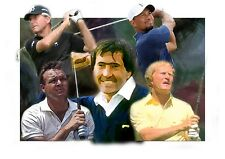 GOLF LEGENDS, ON  A4  CANVAS ICONIC , ART